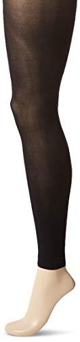 Hanes Silk Reflections Women's Blackout XTEMP Footless Tights, Black, Medium