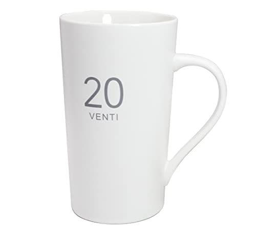 20 Ounces Simple Large Milk Mug, Momugs Tall White Ceramic Coffee Cup - The Best Gift for Your Father, Husband, And Friends