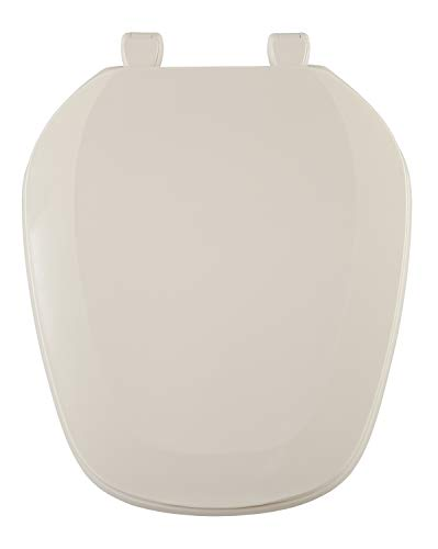 Centoco EMB201-306 Eljer Emblem Round Toilet Seat with Square Front, Natural