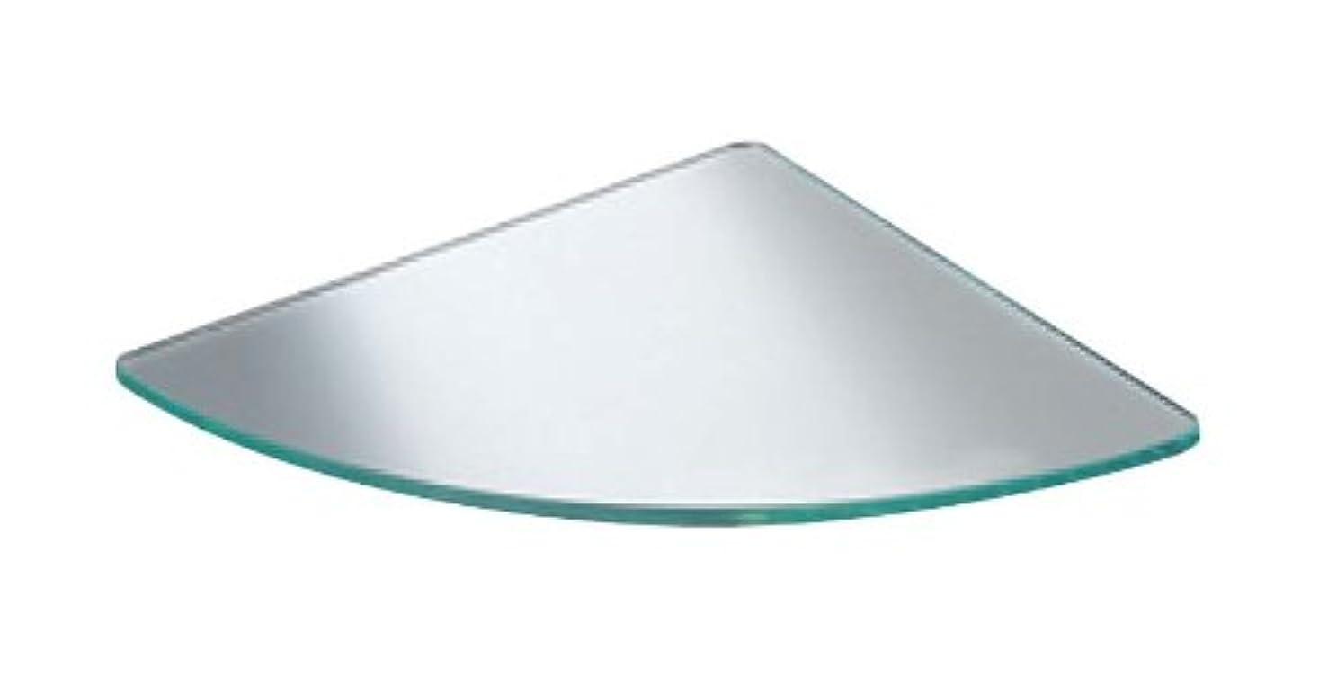競争文字周辺シロクマ ガラス棚板R形 200㎜ 透明 TG-122
