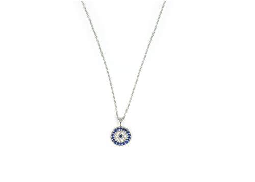 Remi Bijou 925 Silber Halskette 'Türkisches Auge' - Nazar Boncuk Evil Eye Strass