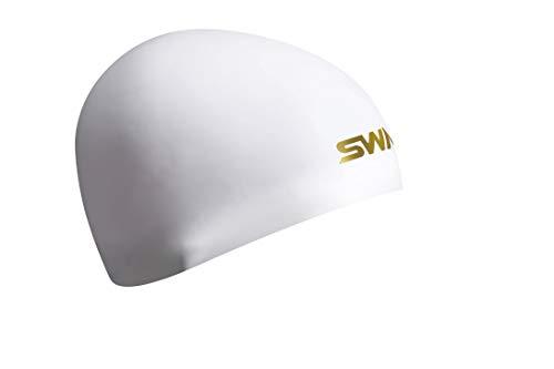 SWANS(スワンズ) スイムキャップ 水泳 競泳用 シリコーンキャップ ドーム型 Fina承認モデル ホワイト SA-10S フリー