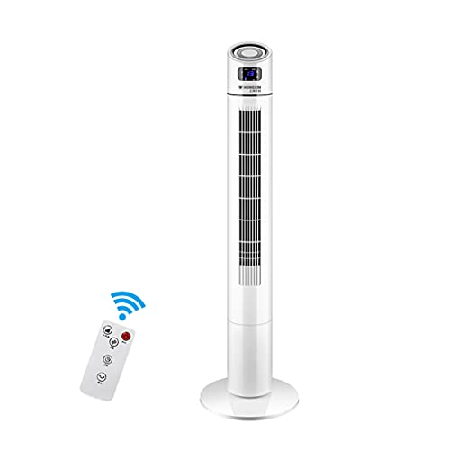LS Ventilador De La Torre De Enfriamiento, 65 ° Oscilante Ventiladores Verticales Con Control Remoto, 3 Modos, 3 Velocidades, Pantalla LED, Temporizador De 15 H, Ventilador Portátil Sin Aspas Del Pi