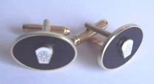 Maître marque maçonnique blanc Keystone 4ème degrés boutons de manchette émail