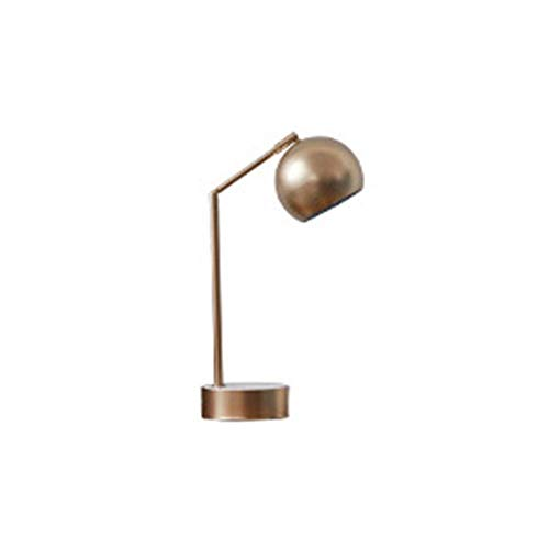 Lámpara Escritorio Lámpara de mesa de metal minimalista nórdica lámpara lámpara de noche de dormitorio de lujo estilo de aprendizaje personalizado habitación villa sala de estar lámpara decorativa som