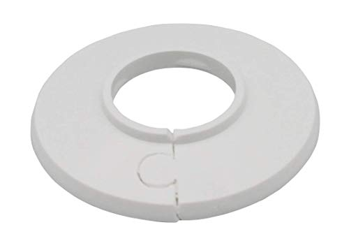 10 unidades de rosetas individuales para tubos de calefacción, cubierta, manguito de tubo, radiador, tamaños: 8 mm a 60,3 mm, polietileno en colores especiales (28 mm, RAL 9016)