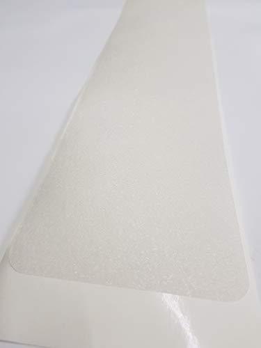 Anti Rutsch Matte gummiert, der beste Streifen den wir kennen, ein Stk 65 cm x 15 cm transparent, für eine Treppenstufe auch fuer Hund und Kind. Anstatt Stufenmatten od. Treppenteppich 0,45 mm dünn selbstklebend