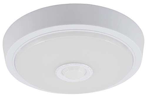 McShine - LED Deckenleuchte Deckenlampe   LEIR-21   21cm-Ø, 10W, 800 lm, warmweiß, 3000K, mit PIR-Bewegungsmelder