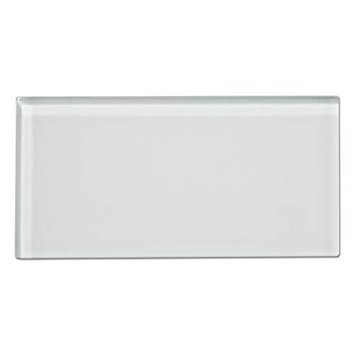 Diflart 7,6 x 15,2 cm, Pfefferminzgrün, Glasfliesen für Küche, Bad, Dusche, Pool, Wand, 40 Stück