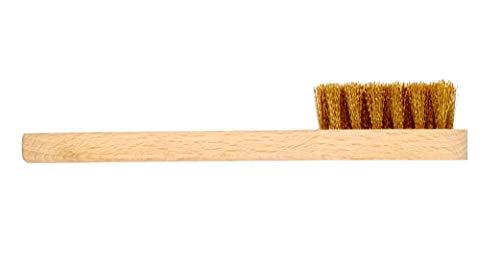 DELARA Cepillo de ante con cerdas de latón para la limpieza de zapatos de nobuck y bolsillos de piel áspera, fabricado en Alemania
