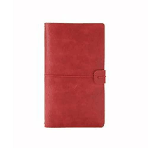 S-TROUBLE Cuaderno de Notas de Escritura de Cuero Beige Daolin Paper A6 Manual con Resorte Flexible para Mujer Diario de Cuaderno Personal de Cuero PU