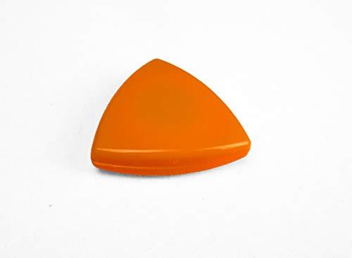 Dekomagnet - Gardinenmagnet – Magnetgriff - Magnetpin - Dreieck ca. 4 cm - starker Halt - orange