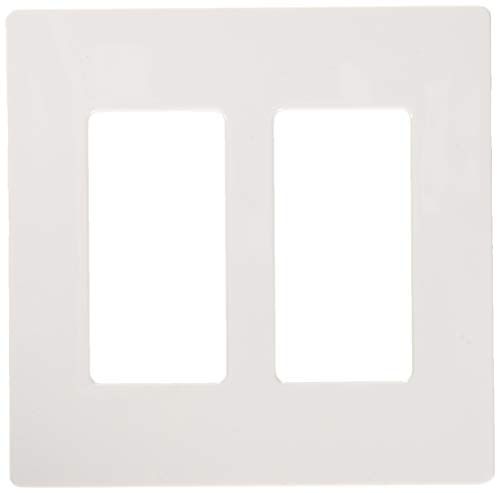 Lutron CW-2-WH Claro 2-Gang Wall Plate, White, 12-Pack