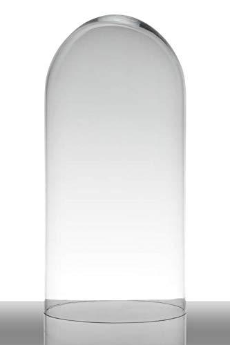 INNA-Glas Cloche de Verre Adelina, Cylindre - Ronde, Transparent, 40cm, Ø 19cm - Bocal à Bonbons - Récipient en Verre