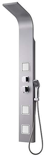 Aluminium Duschpaneel Duschsäule Massagedüsen Regenschauer Dusche Sanlingo