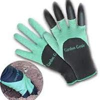 Garden Genie Gloves by Crocoin 2 pack with Fingertips Claws on each Hand, for Digging and Planting, for Right-handers & Left-handers, for Women & Men
