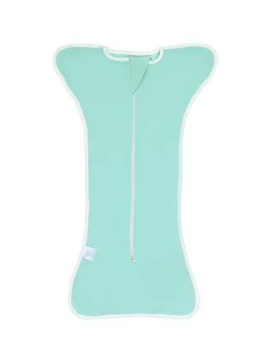 Bright Love Bébé Sac De Couchage Confort Langer Sac De Couchage Unisexe 100% Cotton 0-3 Mois Portable Blanket2 Pack,Green