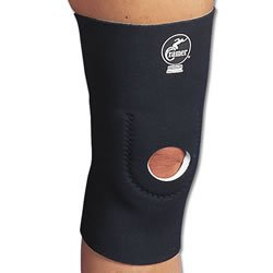 Cramer Basic Neoprene Patellar Support Compression Sleeve, Best Knee Support for Running, Sports Brace for Knees, Compression Leg Sleeves for ACL & MCL Strain or Pain, Runner's Knee Cap, Black