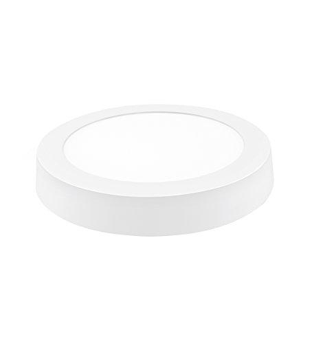 Davled plano Downlight LED con superficie de aluminio blanco con luz fría 18W, 18 W, 23 x 23 cm