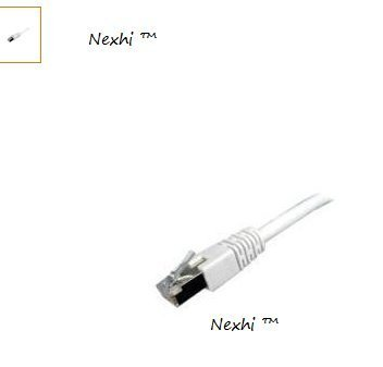 Nexhi 25 Feet White Category 6 Cat6 Shielded Molded Ethernet Network Patch Cable Cord for Internet Router Switch Hub and Gaming - Gold Plated Male to Male RJ45 Connectors for Base-T Networks - Works best for your desktop laptop router modem switch hub DSL Xbox PS2 or PS3 - HIGHEST QUALITY