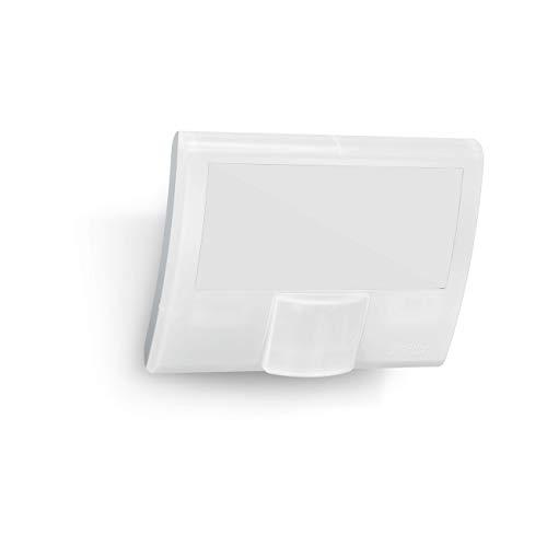 Steinel LED-Strahler XLED Curved weiß, 10.5 W Flutlicht, 160° Bewegungsmelder, 8 m Reichweite, Wandleuchte außen