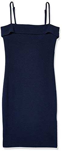MINKPINK Damen Kleid Over The Over The Horizon Foldover Cami Kleid - Blau - Klein
