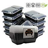 {10 Pack} Microwave And Dishwasher Safe Stackable Meal Prep Plastic Fo