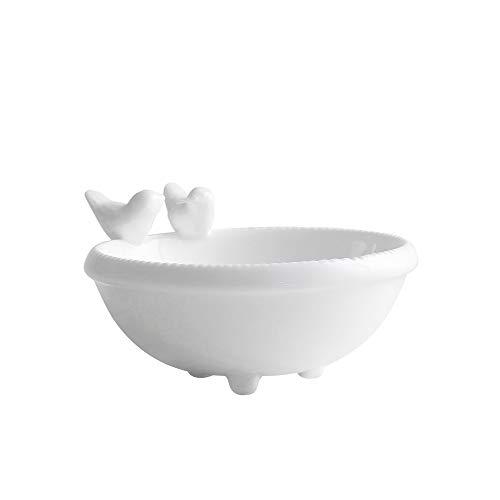 Bcaer Macetero carnoso para parejas, pájaros de porcelana blanca en maceta, para interior o mesa, para casa, jardín, jarrón de escritorio, mini adornos para jardinería en casa y oficina