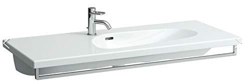 Laufen Palomba Waschtisch unterbaufähig, asymmetrisch, 1 Hahnloch, ohne Überlauf, 1200x500, Farbe: Weiß mit LCC