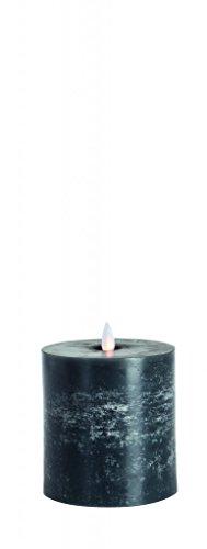 Sompex Flame Echtwachs LED Kerze, flach-fernbedienbar & integrierter Timer, (100% Paraffin), anthrazit, 0 x 10 x 10.5 cm