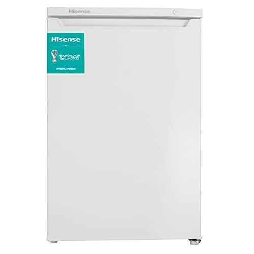 Hisense FV105D4AW2 - Congelador Vertical, 82 L capacidad neta, 84.5 cm alto, bajo encimera, puerta reversible, 4 estrellas en el congelador, silencioso, color blanco
