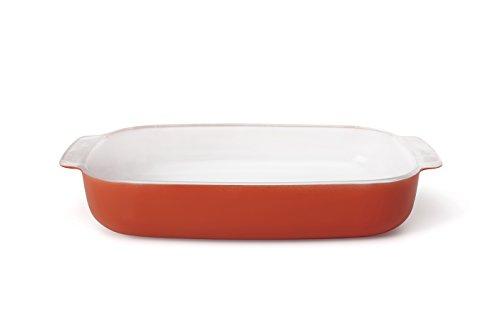 Creo SmartGlass Cookware, 3-quart Baking Dish, Shanghai Red