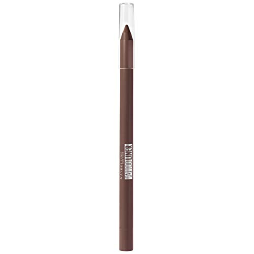 Maybelline New-York – Crayon Gel Effet Tatouage Yeux – Waterproof avec Tenue Extrême jusqu'à 36h – Tattoo Liner – 911 Smooth Walnut (Brun Noisette)