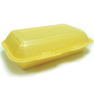 GSL 100 x Large Polystyrene Foam Kebab Burger Fish & Chip Box Container (N1)
