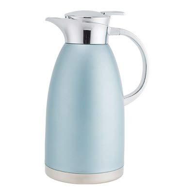 Jarra de vacío de 2,3 L, termo de vacío aislado, vacío de doble pared de acero inoxidable 304, doble pared de acero inoxidable para té, café, bebidas frías y calientes