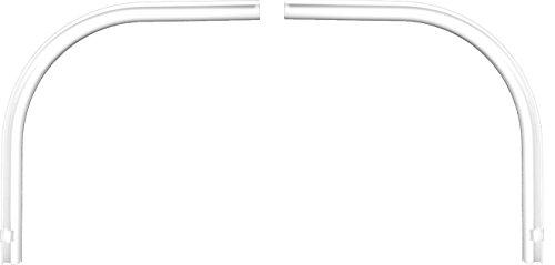 Garduna Rundbogen (Paar) für Schleuderschiene, Aluminium, Weiss, Glatte, glänzende Oberfläche, 1-läufig