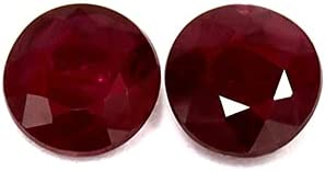 GemsNY 1.10 cttw. Natural Matched Ruby Round Pair cheap Nashville-Davidson Mall