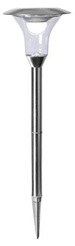 Tecstar Star Décoration de Jardin, LED Solaire Pathlight, Acier Inoxydable, Argent, 18 x 18 x 51 CM, 479–81
