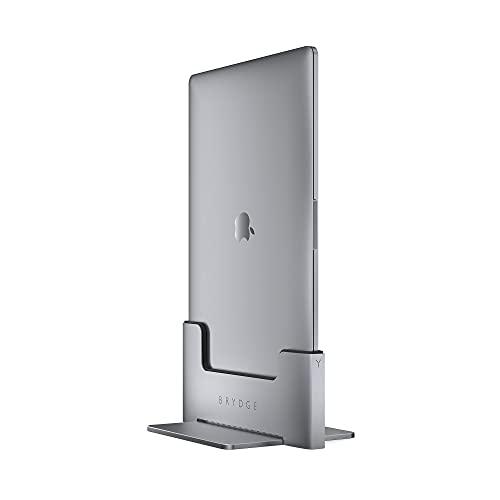 Dock verticale Brydge | Compatibile con MacBook Pro da 13 pollici (2020-2016) con Touch Bar | 2 x Thunderbolt 3 porte | (Space Gray)