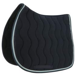 EQUITHEME Tapis Jump Classic - Couleurs - Marine/Argent, Taille Equipement Cheval - Poney