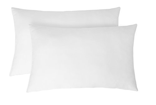 Amazon Brand - Solimo 2-Piece Ultra Soft Bed Pillow Set - 43 x 69 cm, White