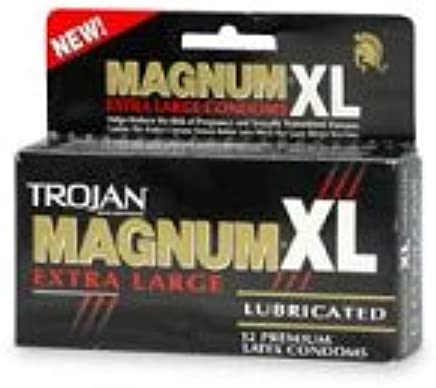 Amazon.com: Trojan Magnum XL Extra Large Latex Condoms, Lubricated, 12-Count Boxes (Pack of 3): Health & Personal Care