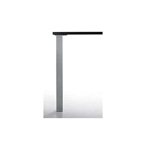 Pied de table carré quadra - 60 x 60 mm - Décor : Inox brossé - Hauteur : 820 mm - CAMAR