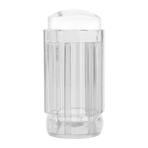 Royoo Tampon Transparent d'art D'ongle, Tête d'impression D'ongle Entièrement Transparente, Tampon en Silicone À Poignée Transparente Violette