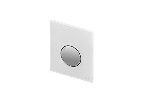 TECE Loop Urinalbetätigung mit Kartusche Glas weiß, Taste weiß, 9242650
