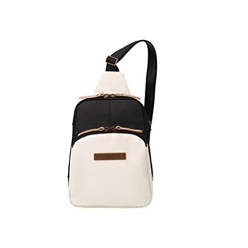 Petunia Pickle Bottom Criss-Cross Sling Bag - Sling Bag for Women and Men - Adjustable Straps to Custom-Fit - Spacious Main Pocket - Small Sling Bag - Stylish Sling Bag - Birch Black