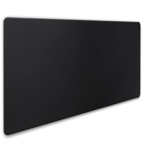 Jahosin XXL Gaming Mouse Pad with Stitched Edges,[35.4x15.7In] Extended Mouse Pad with Non-Slip Natural Rubber Base for Gamer/Desktop/Office/Home (90x40 Blackus)