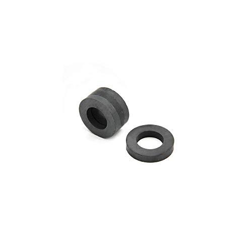 Magnet Expert 32mm de diamètre extérieur x 18 mm de diamètre intérieur x 5.5 mm d'épaisseur Y30BH Ferrite Anneau Aimant - 1 kg Pull (Lot de 4)