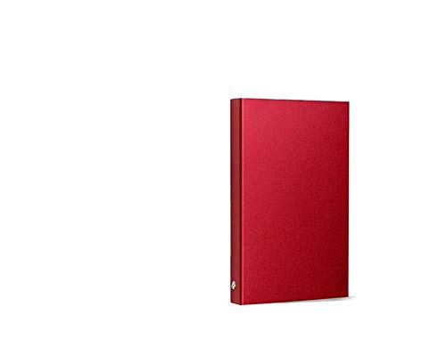 Discos Duros Externos External Hard Drive HDD Datos Portátil Memoria Cáscara Metal USB3.0 Súper Rápido Velocidad Transferencia Compatible con PC con Windows Mac Televisión Inteligente (640GB,Rojo)