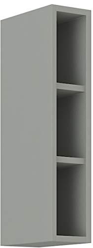 Hängeschrank Regal 15 cm Bianca Grey Rose - Grau Küchenzeile Küchenblock Vario